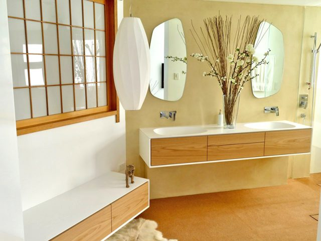 Cork Floor Interior Bathroom 1