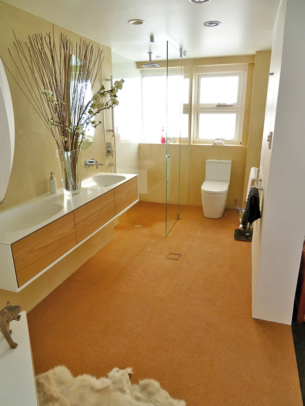Cork Floor Interior Bathroom 2